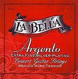 LaBella SM Argento Extra Fine Silver Plating - Medium Tension