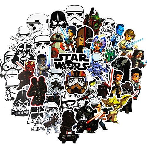 (shuyilong Star Wars Stickers(100pcs),Jedi Knight Stickers for Kids,Graffiti Sticker for Water Bottle Hydro Flask MacBook iPhone iPad Phone Case Computer Car Bike Bumper Skateboard Luggage)