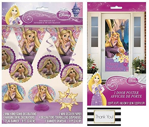 Disney Tangled 7 pc Decoration Kit and 1 Door Poster, 2.5 ft x 5 ft by BT