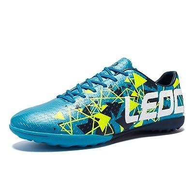 a7195d6f1bd XiXiHao Indoor Breathable Chuteira Futebol Men Soccer Shoes 5.5 US Men Blue