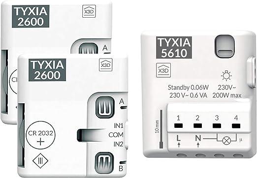 Delta Dore 6351399 TYXIA 2600 Emetteur nano module Blanc 230 V