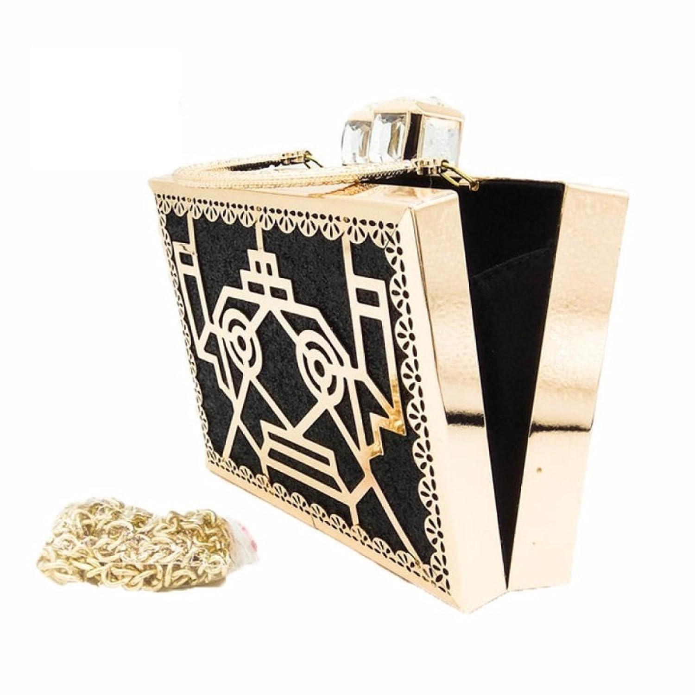 Borsa Da Sera Da Donna Pochette Con Diamante In Metallo Moda Borse Da  Pranzo Con Motivo Geometrico Tracolla,Black-17*4.5*13cm: Amazon.it:  Abbigliamento