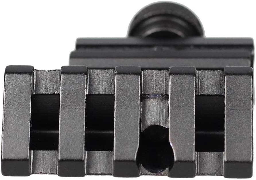 45 Grad Winkel Taktisches Zielfernrohr for Mount Aluminium Offset 4 Slot Seitenschiene RTS Visierschiene Airsoft 45mm Picatinny Laser Adapter Schwarz NO LOGO XBF-Scope