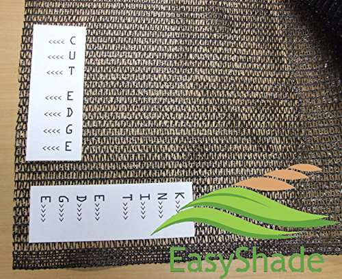 EasyShade Blk40 Sunblock Black 40% Shade Cloth UV Resistant Fabric 20ft x 15ft Clips Free