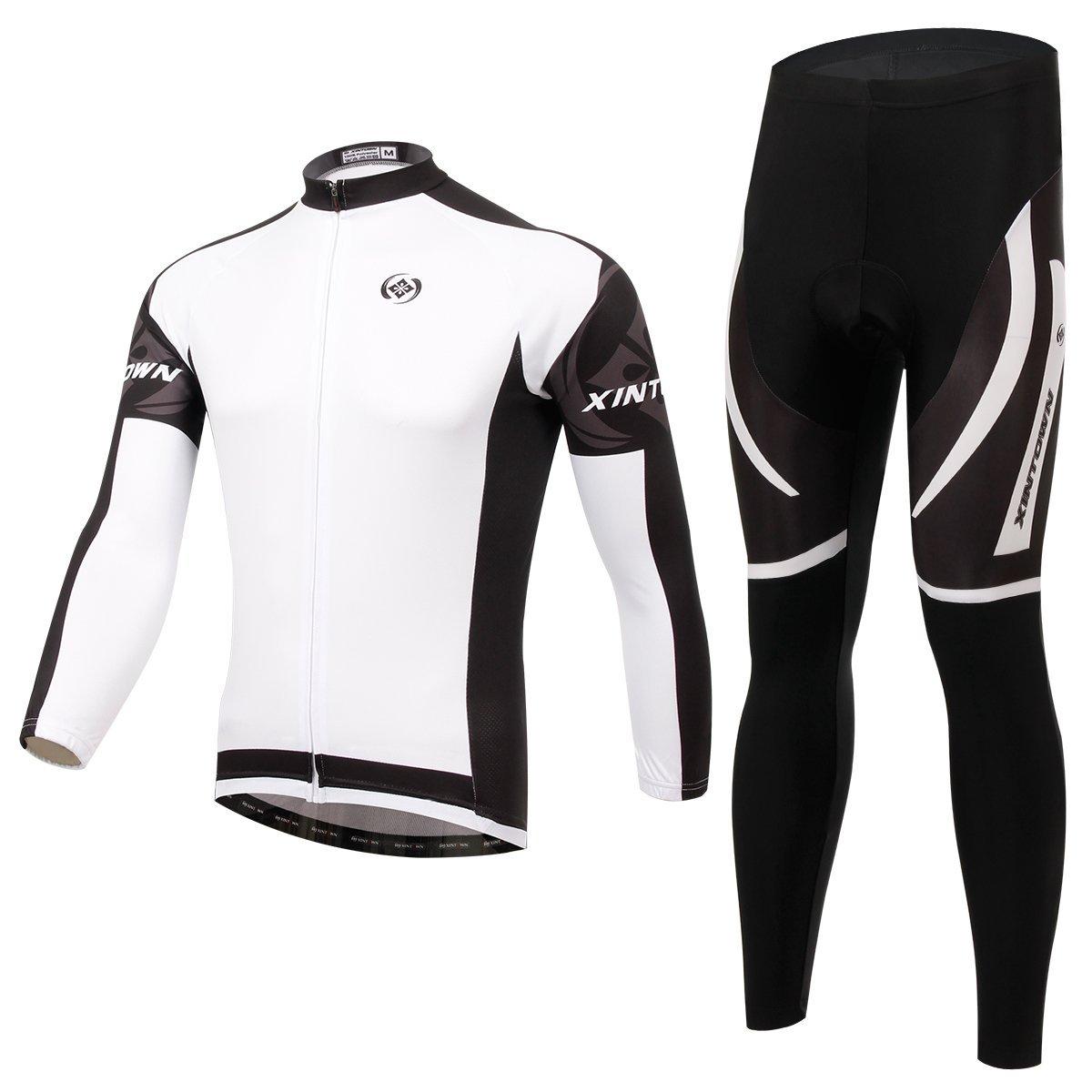besylユニセックスホワイトブラックグレープリントハイパフォーマンスメッシュCycling Clothingキット、サイクリングジャージ半袖とショーツスーツ自転車用、バイカー、自転車、乗馬 B0189KTV2U XXXL (US XXL) Fleece Fleece XXXL (US XXL)