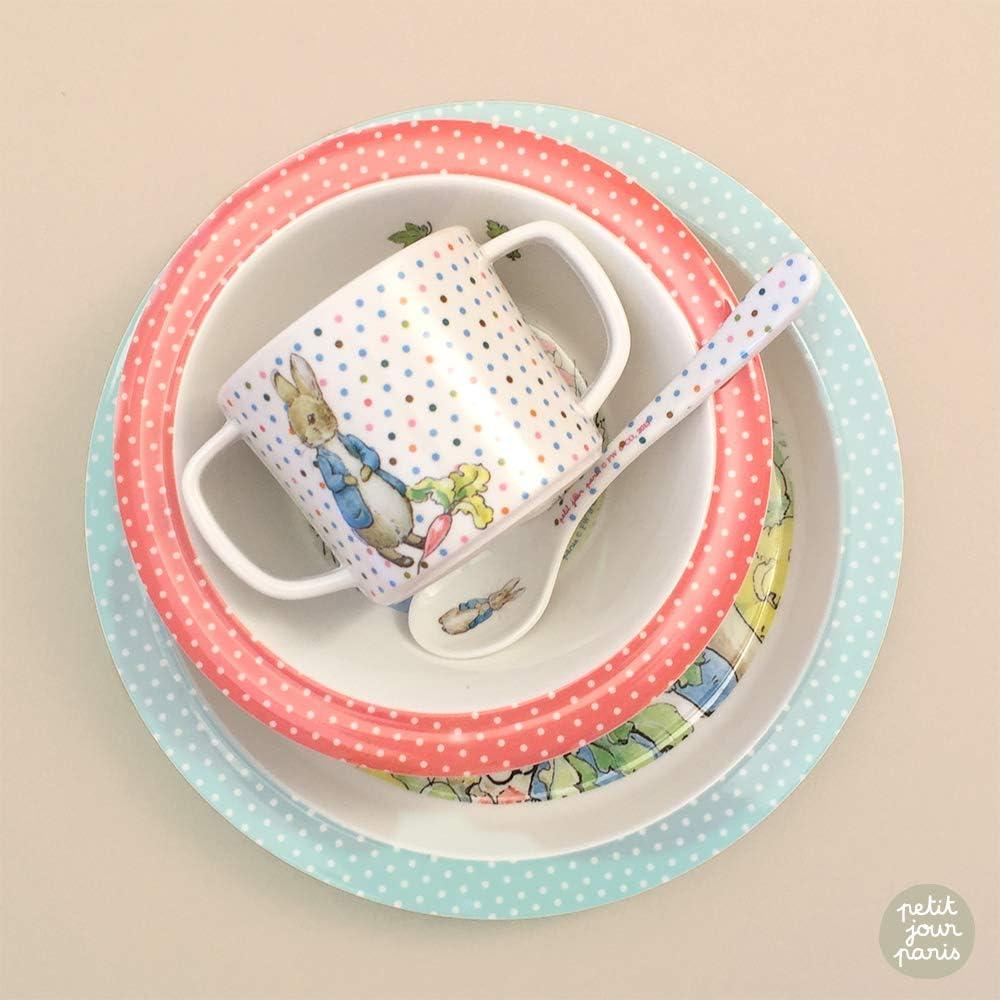 Favorise lautonomie Coffret vaisselle 5 pi/èces taupePierre Lapin Petit Jour Paris