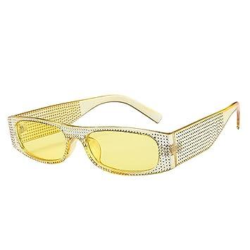 Amazon.com: Berryhot - Gafas de sol rectangulares creativas ...