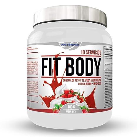 Batidos para Adelgazar sustitutivos de comida con proteínas Dieta quema grasas + colágeno/Batido de pérdida de peso completo (Fresa y Nata)