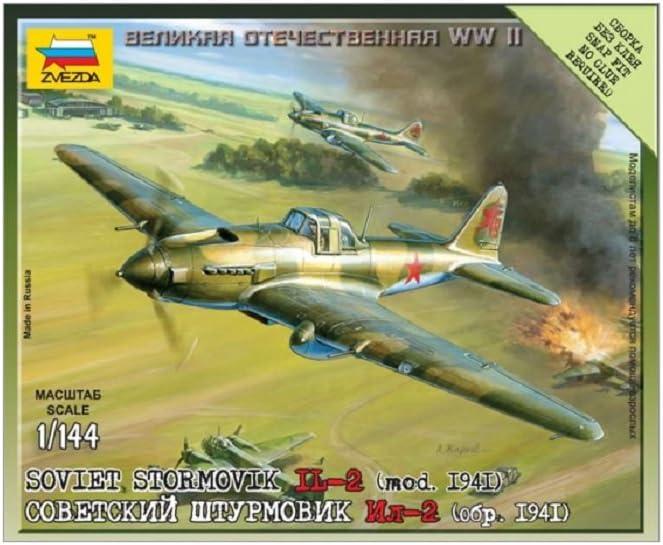 1:144 Scale Zvezda Illiouchine Il-2 Stormovik Z6125 Model Aeroplane