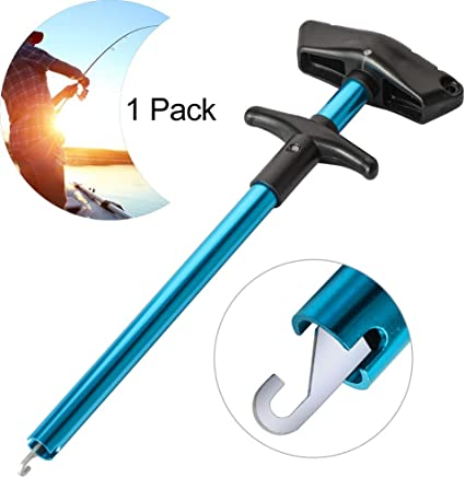 Moncey Easy Fish Hook Remover Squeeze-Out Fish Hook Separator Tools Portable Easy Reach Aluminum Fishing Hooks Extractor Fast Decoupling No Injury 2019 New