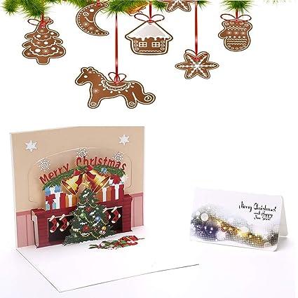 Christmas Card Printing.Amazon Com Xfuny 3d Christmas Tree Greeting Card Color