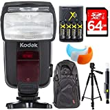 Kodak F4600N Flash TTL 18-180 Power Zoom for Nikon TTL Cameras + Deluxe Power Bundle