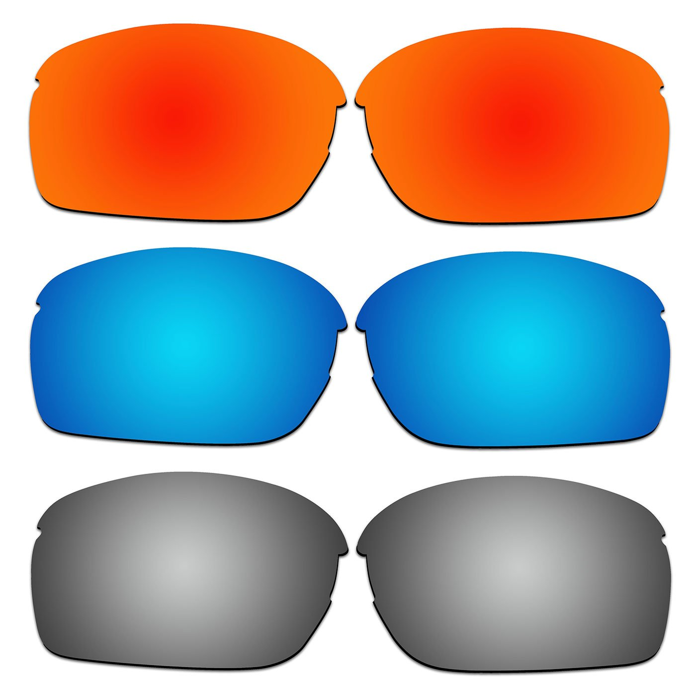 2a905b03811 Amazon.com   ACOMPATIBLE 3 Pair Replacement Polarized Lenses for Oakley RPM  Squared Sunglasses OO9205 Pack P3   Sports   Outdoors