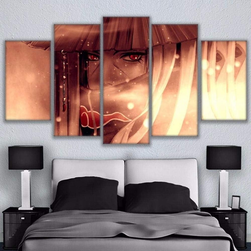 Wandkunst Bilder Wohnkultur f/ür Wohnzimmer HD-Drucke Anime Poster 5 St/ück Naruto Uchiha Itachi Leinwandbilder Wandkunst Bild Wohnzimmer Wohnkultur HD Druck Animation Poster 5 Helden Ninja Anima
