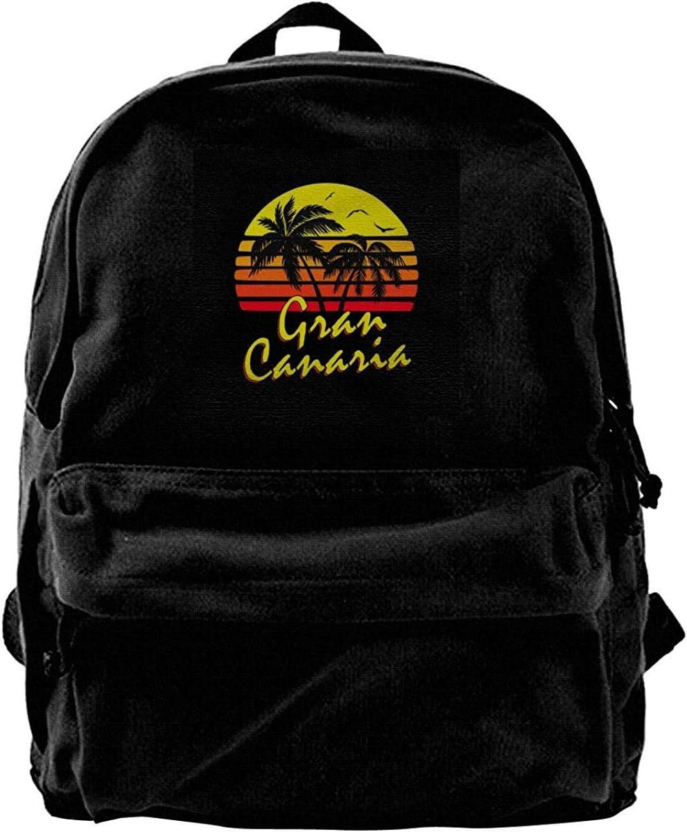 Homebe Toile Cartable Casual Sac /à Dos en Toile Gran Canaria Vintage Sun Rucksack Gym Hiking Sac /à Dos Scolaire Daypack for Men Women