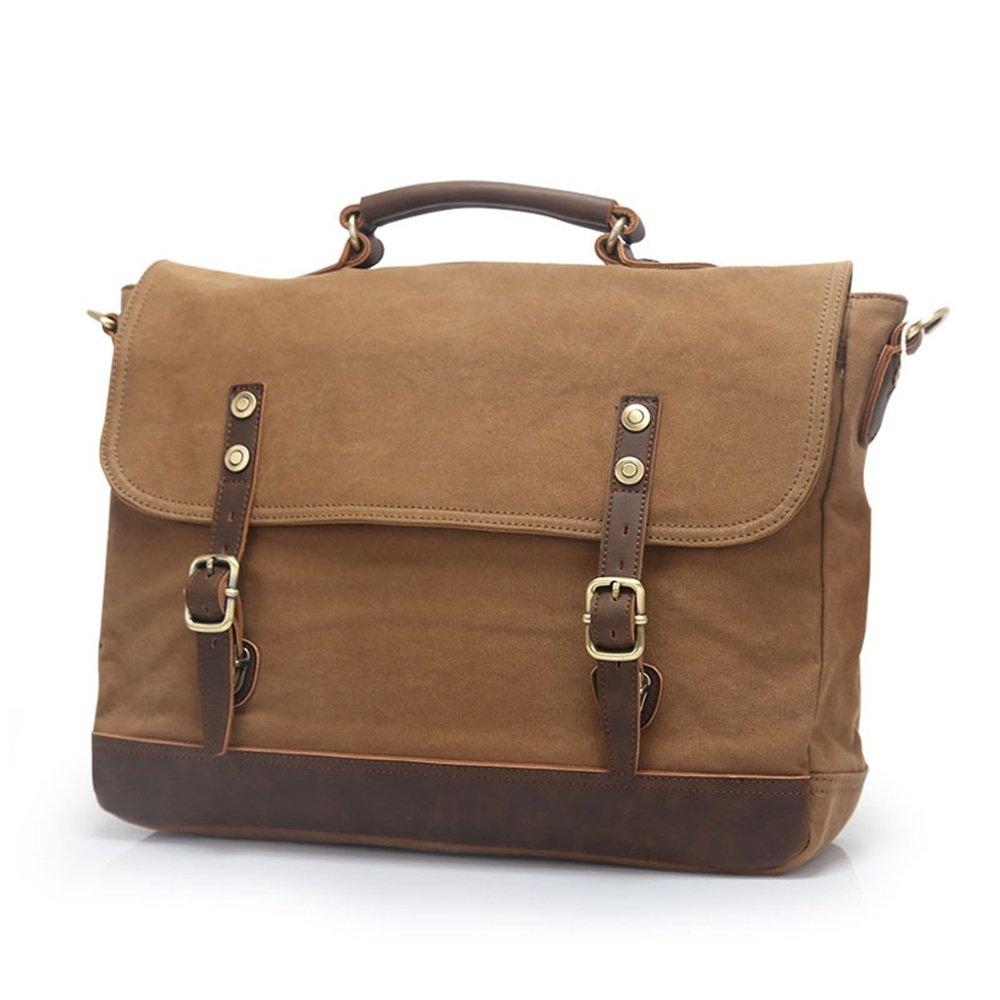 GLJJQMY Casual Canvas Mens Mobile Slung Mens Official Computer Bag Mens Bag Shoulder Bag Multi-Color Optional 39 30 11cm Briefcase Color : Blue