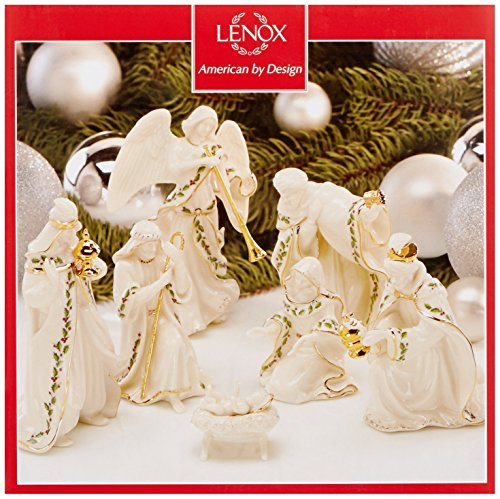 Lenox Nativity (Lenox Holiday Xmas Nativity Porcelain 7 Pc set Holy Family, Three Kings, Angel)