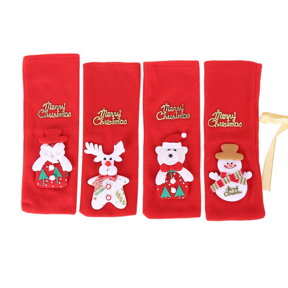 Christmas Wine Bottle Cover, Santa Reindeer Snowman Christmas Wine Bottle Cover Ornament Clothes Set Table Decor (4PCS): Amazon.com: Grocery & Gourmet Food