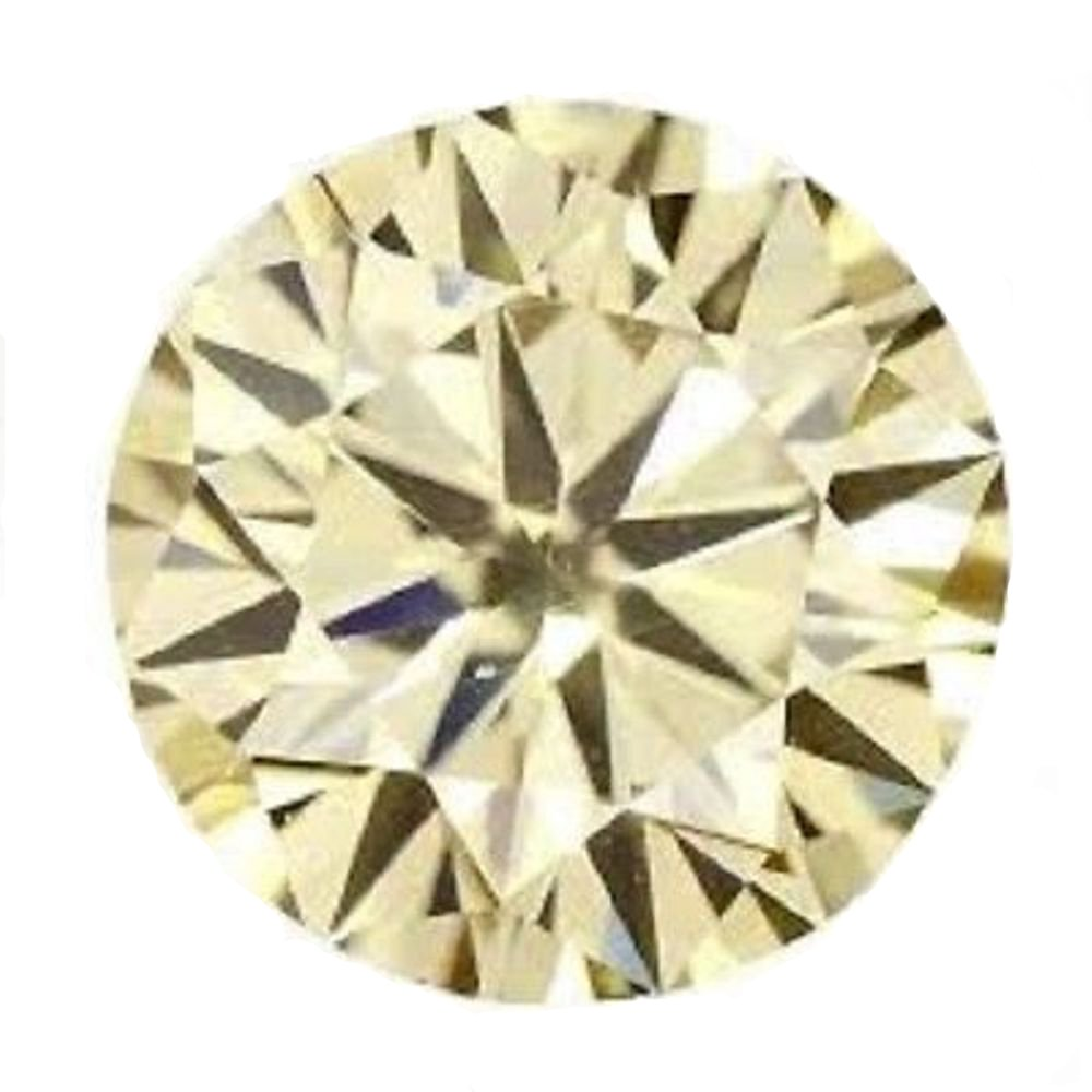 RINGJEWEL 2.88 ct 9.31 MM VVS1 Round Cut Loose Real Moissanite Use 4 Pendant/Ring Fancy Light Yelllow Color Stone