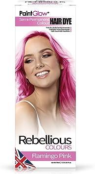 Paintglow - Rebellious Colours - Tinte de Pelo Semi-Permanente 70 ml (Flamingo Pink) - 1 unidad