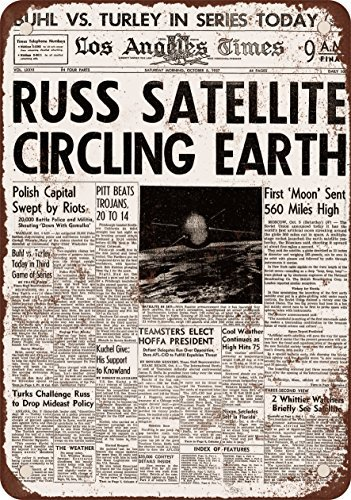 1957 Russian Satellite Circling Earth Sputnik Headline for sale  Delivered anywhere in USA
