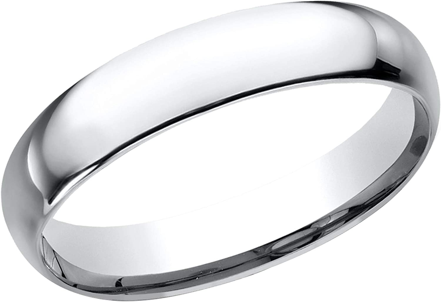 Prism Jewel 4.30mm D Shape Unisex Unisex Plain Stackable Wedding Band Crafted In 925 Sterling Silver