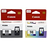 Canon PG-88 and CL-98 Ink Cartridge Combo (Black and Colour)