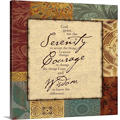 Serenity Prayer Canvas Wall Art Print, 16 x16 x1.25