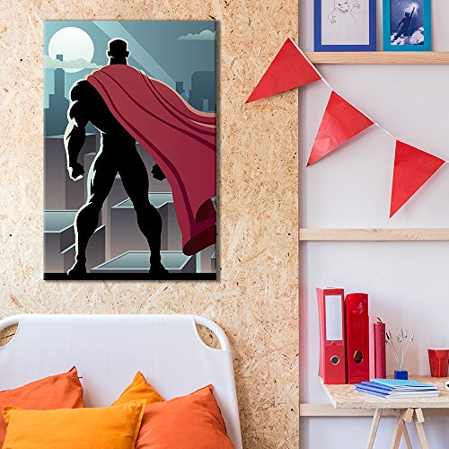 Superhero Pop Art Comic Strip