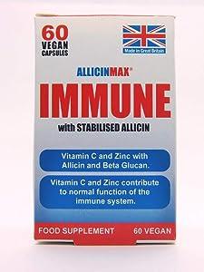 Allicin Max Immune with Stabilised Alicin 60 Vegan Capsules