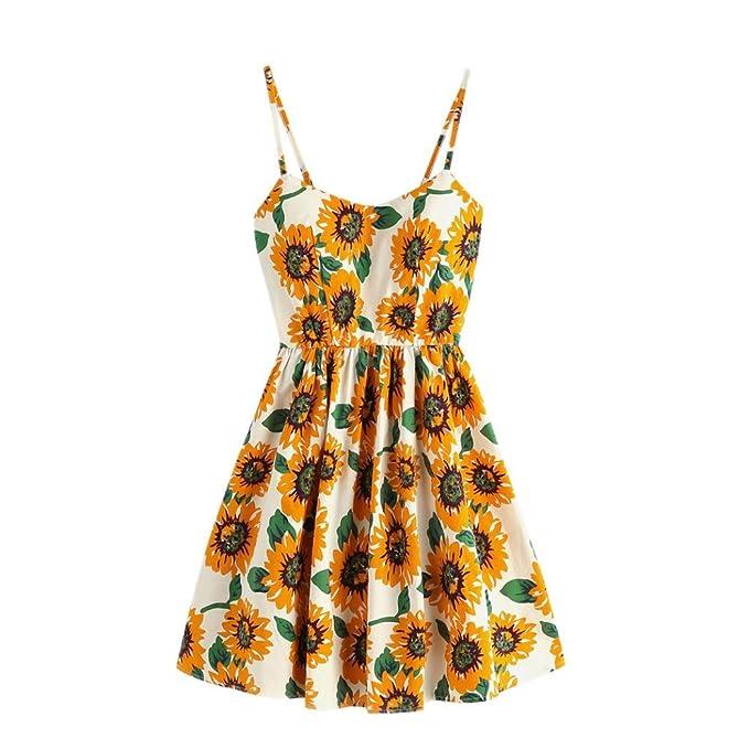 newest ca6a9 d3c30 ChallengE Vestito Lungo Donna Elegante Mini Vestiti Vintage ...