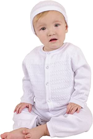 Aiden Knit Christening Baptism Blessing Outfit for Boys
