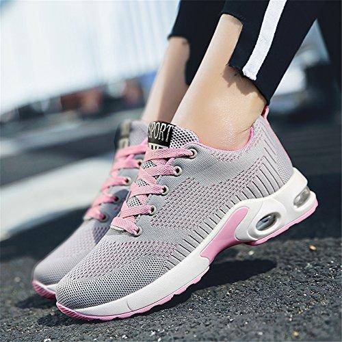 da Scarpe da Sneakers Corsa da Air Ginnastica Running Powder Sports Shock Jogging Sportive Ash Donna Unisex Ginnastica da Scarpe Anti w680y