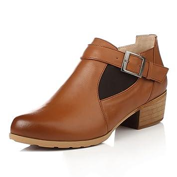 LIANGJUN Mujer Zapatos Botines Primavera Invierno Moda, 2 Colores, 10 Tamaños Disponibles (Color : Marrón, Tamaño : EU41=UK7=L:255mm): Amazon.es: Jardín
