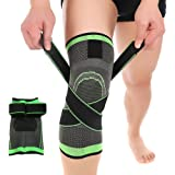 Knee Sleeve, Compression Fit Support -for Joint Pain and Arthritis Relief, Improved Circulation Compression - Wear Anywhere - Single