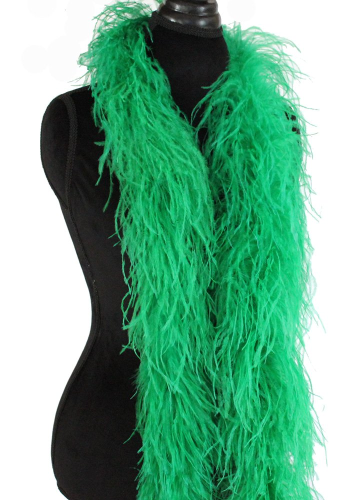 3ply Ostrich Feather Boas, Over 20 Colors to Pick Up (Emerald Green) 9O51