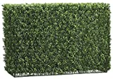 Allstate Floral Plastic Artificial Plants 24 Inch Tall Boxwood Hedge Two Tone Green 27.5 X 24 X 38 Inches Green