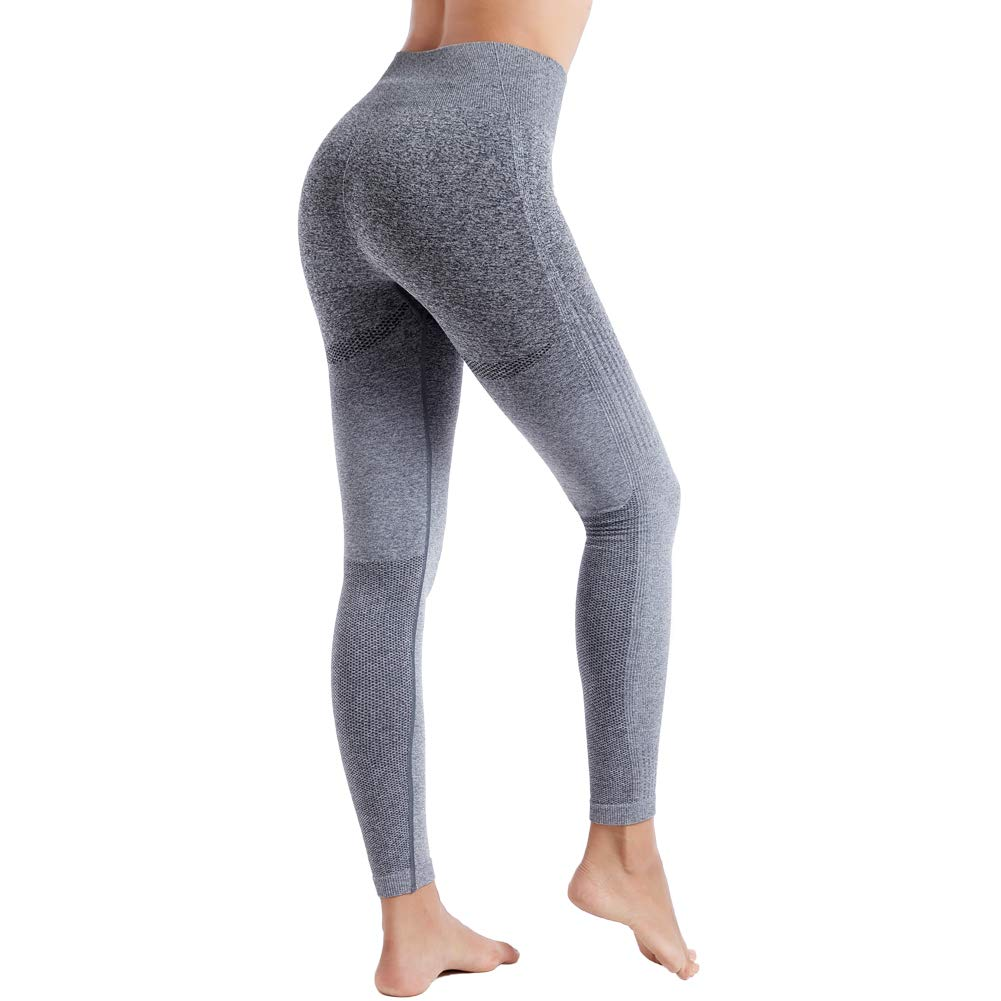 76a6f53d5c237a Amazon.com: Aoxjox Yoga Pants for Women High Waisted Gym Sport Ombre  Seamless Leggings: Clothing