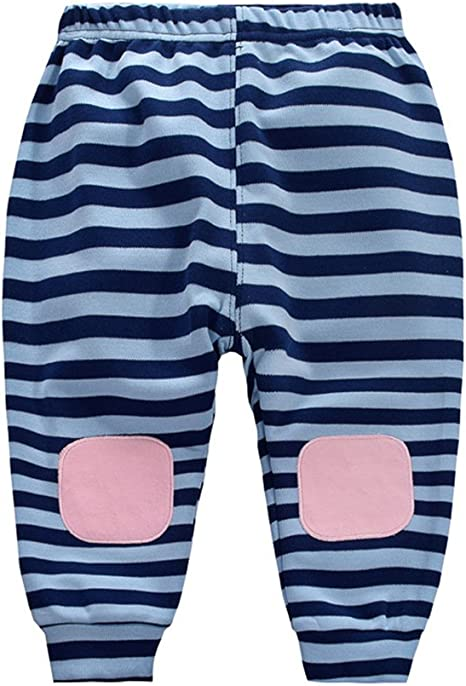 Pantalones largos de algodón para bebé, pantalones de chándal para ...