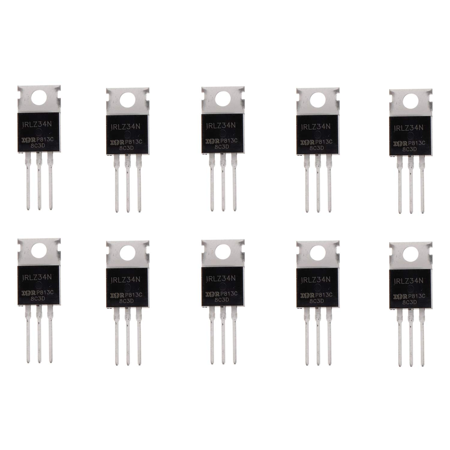pack of 10 Pcs BOJACK IRLZ34N MOSFET 30 A 55 V IRLZ34NPBF N-channel field effect transistors TO-220AB