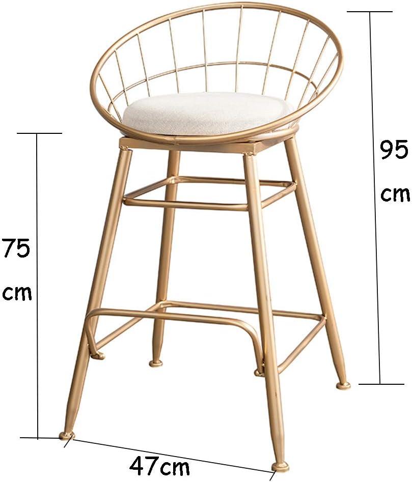 4 pcs 65cm Nordic Bar Stools Cashier Stools Back Bar Stools Home Simple High Chair Fashion Casual Creative