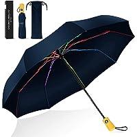 BESTKEE Paraguas plegable de viaje a prueba de viento, automático, grande, plegable, compacto, portátil, de secado…