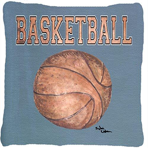 UPC 615872538393, Caroline's Treasures 8486PW1414 Basketball Canvas Fabric Decorative Pillow, Large, Multicolor