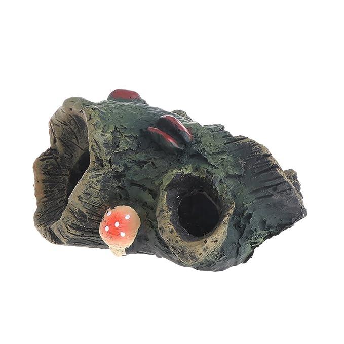 Exing - Cueva de Acuario para pecera, Juguete de Resina Artificial Decorativo, Paisaje simulado: Amazon.es: Productos para mascotas