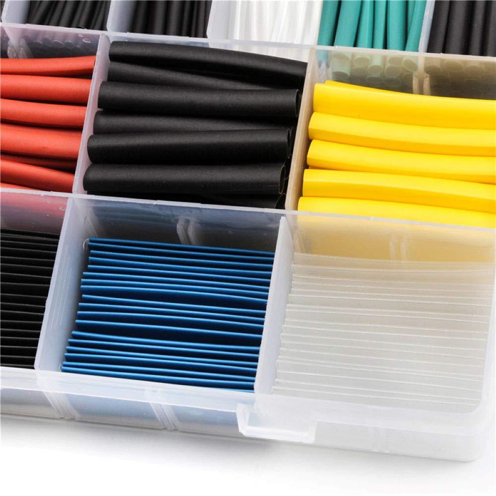 Juego de tubos termorretr/áctiles con aislamiento t/érmico juego de tubos termorretr/áctiles en 6 colores Hobby Inn