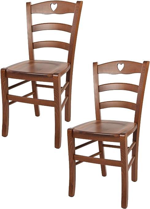 tmcs Tommychairs Set 4 sedie Classiche Cuore per Cucina e ...