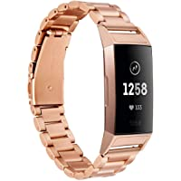 Metalen band Compatibel met Fitbit Charge 3 Charge 4 Bands Vervanging Bandjes Rvs voor Charge 3 Smartwatch Heren…