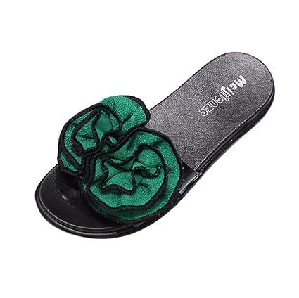 88aa55bc4 Flower Slide Sandals for Women Flat Clearance Summer Slim Flip Flop  Bohemian Wedge Heels Sandal Slipper