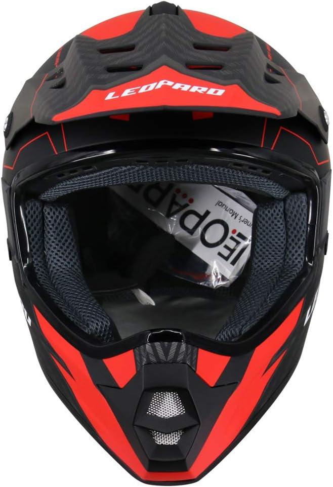 Leopard LEO-X307 Fullface Helm Motocrosshelme Integralhelm Motorradhelm Damen und Herren ECE Genehmigt