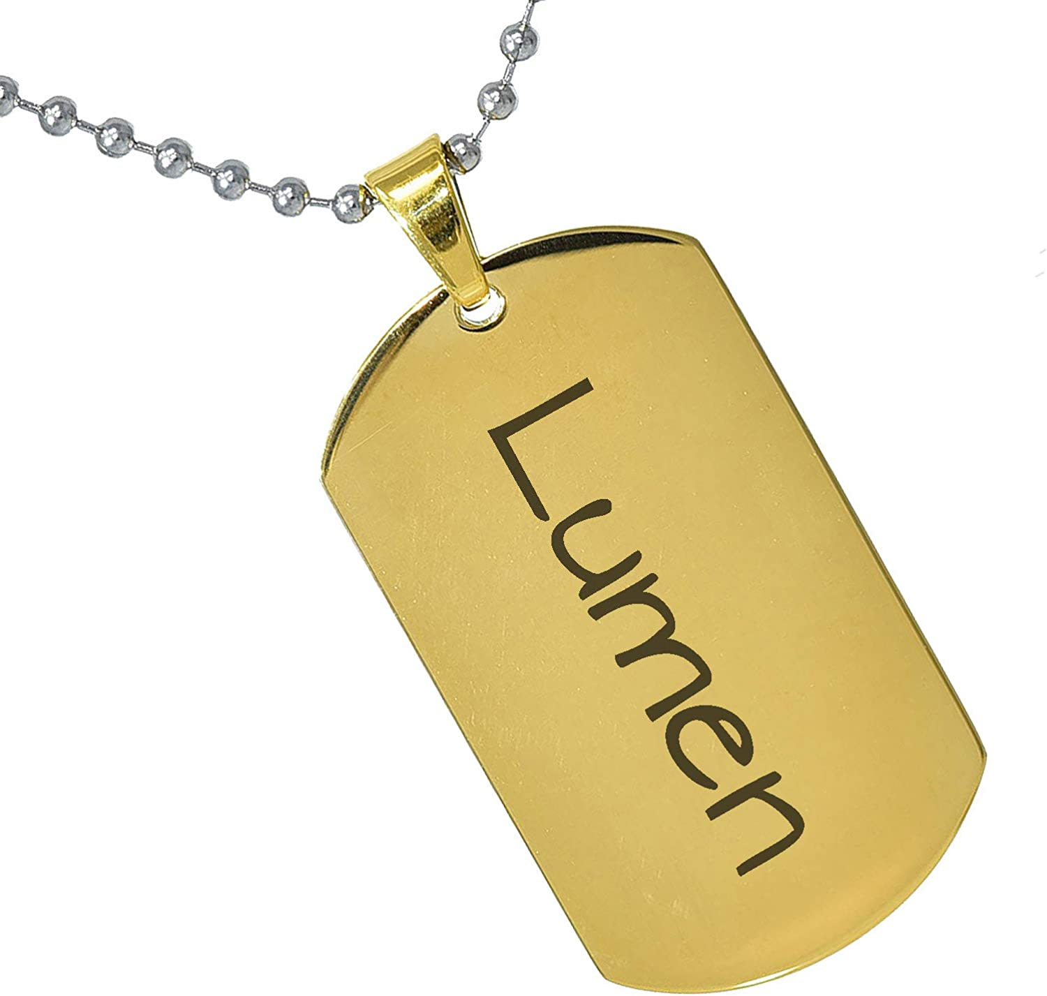 Stainless Steel Silver Gold Black Rose Gold Color Baby Name Lumen Engraved Personalized Gifts For Son Daughter Boyfriend Girlfriend Initial Customizable Pendant Necklace Dog Tags 24 Ball Chain